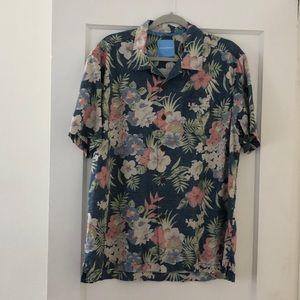Tommy Bahama silk Hawaiian print top